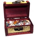 Mini Gold Treasure Chest Containing Tumblestone Chips