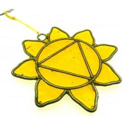 Solar Chakra Symbol Mini Suncatcher