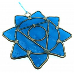 Throat Chakra Symbol Mini Suncatcher