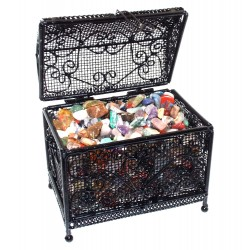 Black Wire Mini Chest Containing Tumblestone Chips