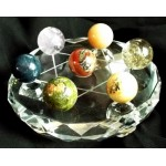 Glass Crystal Healing Grid with Seven Gemstone Spheres