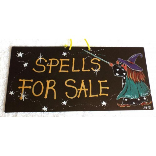 Witchy Hanging Sign Spells for sale