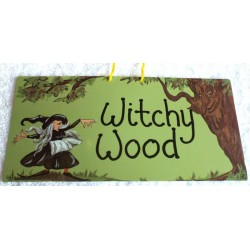 Witchy Hanging Sign Witchy Wood
