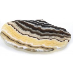 Mexican Onyx Scalloped Altar Dish 04