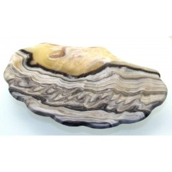 Mexican Onyx Scalloped Altar Dish 07