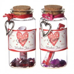 Love Wishes Spell Jar with Heart Trinket