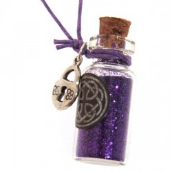 Witches Protection Glitter Dust Pendant