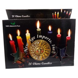20 Pack of Coloured Spell Candles
