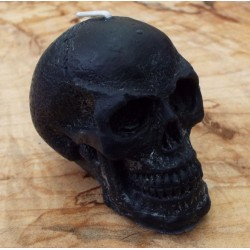 Skull Shaped Candle Black