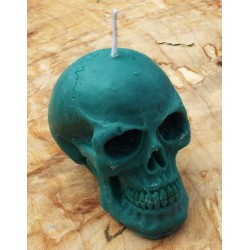 Skull Shaped Candle Green