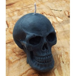 Skull Shaped Candle Grey