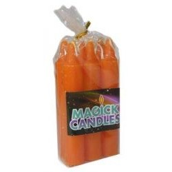 Orange Solid Spell Candles pack of 6