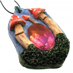 Ceramic Faerie Toadstool with Mystic Topaz Wall Art 25