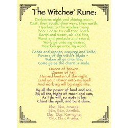 The Witches Rune Pagan Poster