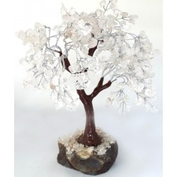 Medium Clear Quartz Gemstone Crystal Tree