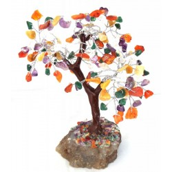 Mixed Gemstone Crystal Tree