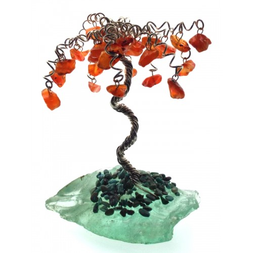 Small Carnelian on Blue Obsidian Crystal Tree 05