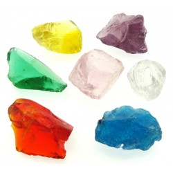 Set of 7 Chakra Monatomic Andara Crystals