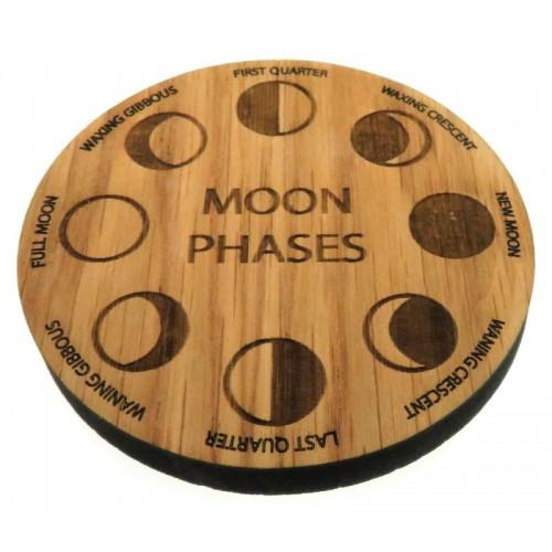 Oak Veneer Moon Phases Crystal Grid Board