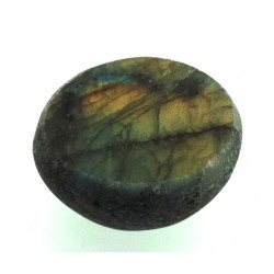 Part Polished Labradorite Gemstone Dragon Egg Half