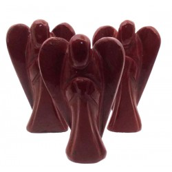 Red Jasper Carved Gemstone Angel