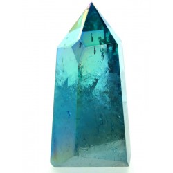 Aqua Aura Quartz Gemstone Tower 04