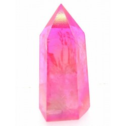 Candy Aura Quartz Gemstone Tower 06
