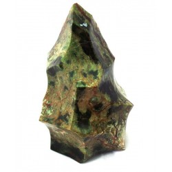 Green Jasper Gemstone Flame Sculpture 01
