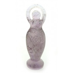 Amethyst Gemstone Carved Goddess 04