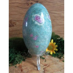 Ruby in Fuchsite Gemstone Carved Egg 02