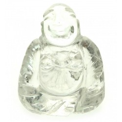 Clear Quartz Carved Gemstone Buddha
