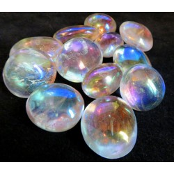Angel Aura Quartz Gemstone Pebble