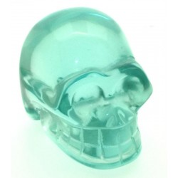 Blue Obsidian Gemstone Carved Skull