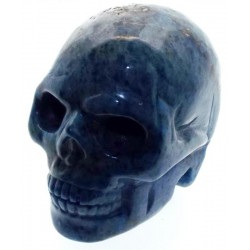 Lapis Lazuli Carved Gemstone Skull 01