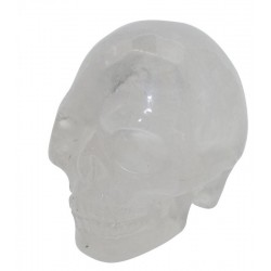 Clear Quartz Carved Gemstone Skull 01