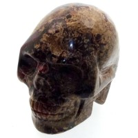 Brecciated Jasper Carved Gemstone Skull 01