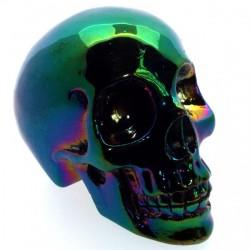 Titanium Hematite Gemstone Carved Skull