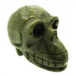 Tintagel Serpentine Long Carved Gemstone Skull
