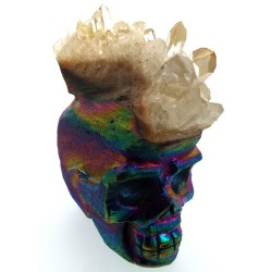Titanium Aura Quartz Skull 03