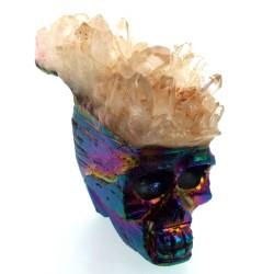 Titanium Aura Quartz Skull 06