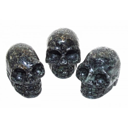 Preseli Bluestone Gemstone Carved Mini Skull