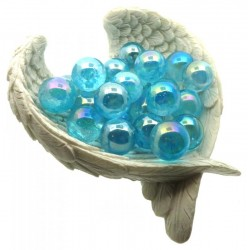 Aqua Aura Quartz Gemstone Sphere 16mm to 18mm