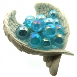 Aqua Aura Quartz Gemstone Sphere 18mm to 20mm