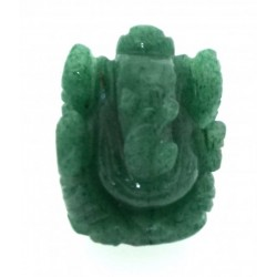 Green Aventurine Carved Ganesha Design 2