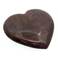 Indian Ruby Gemstone Carved Heart 02
