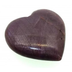 Indian Ruby Gemstone Carved Heart 05