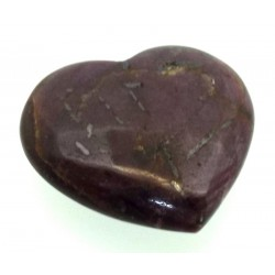 Indian Ruby Gemstone Carved Heart 06