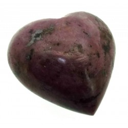 Indian Ruby Gemstone Carved Heart 07