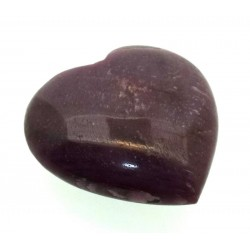 Indian Ruby Gemstone Carved Heart 08