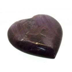 Indian Ruby Gemstone Carved Heart 09